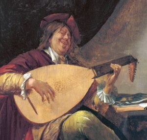 1600s playing the lute